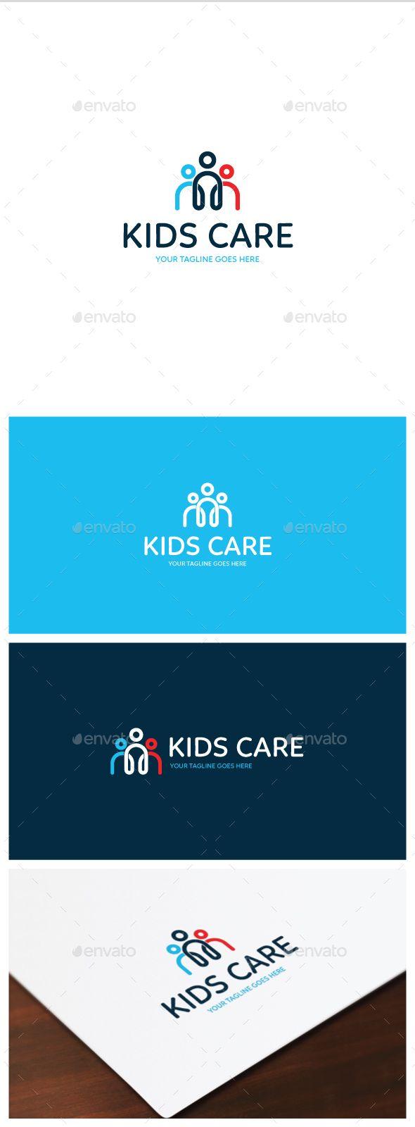 Kids Care Logo Template Vector EPS, AI. Download here: http://graphicriver.net/item/kids-care-logo/14835793?ref=ksioks