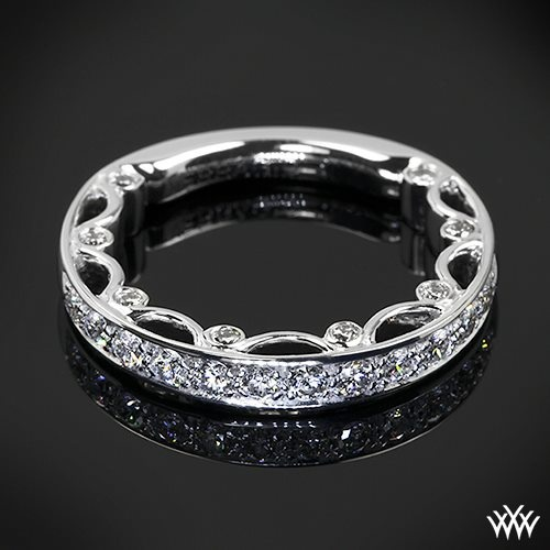 18k white gold verragio ins 7003 half eternity halo diamond engagement - 97 Best Rings Images On Pinterest Jewelry Rings And
