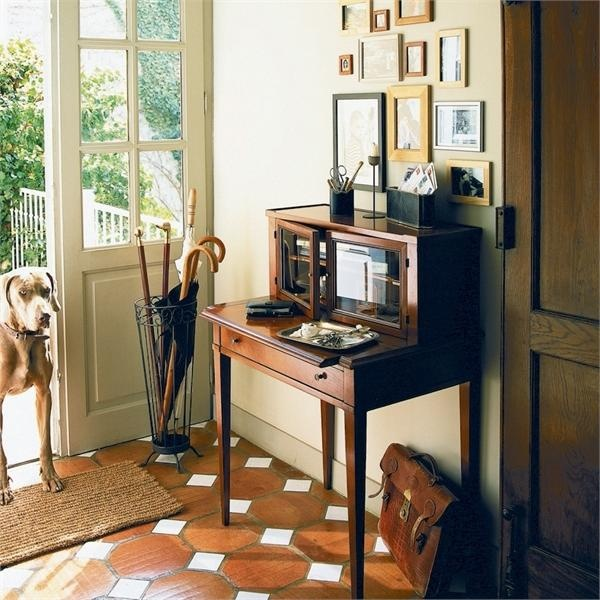 writing desk, cherry wood: Cozy Corner, Cherries Wood, Design Ideas, Foyers Floors, Interiors Design, Bonheurdujourdesk Grang, Beautiful Foyers, Bonheur Du Jour Desks Grang, Candy Interiors