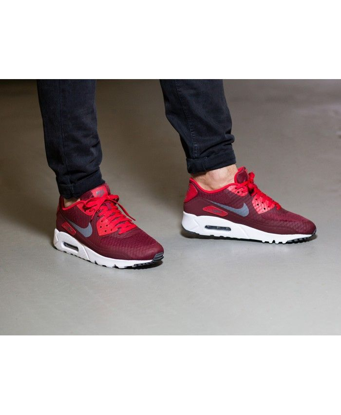 Nike Air Max 90 Ultra Essential Red White Mens Trainers Sale ...
