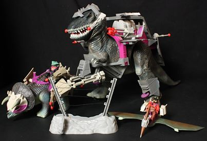 Harness the Power... Dino-Riders!  Dino-Riders toys from the 1980s.  www.warpzoneonline.com