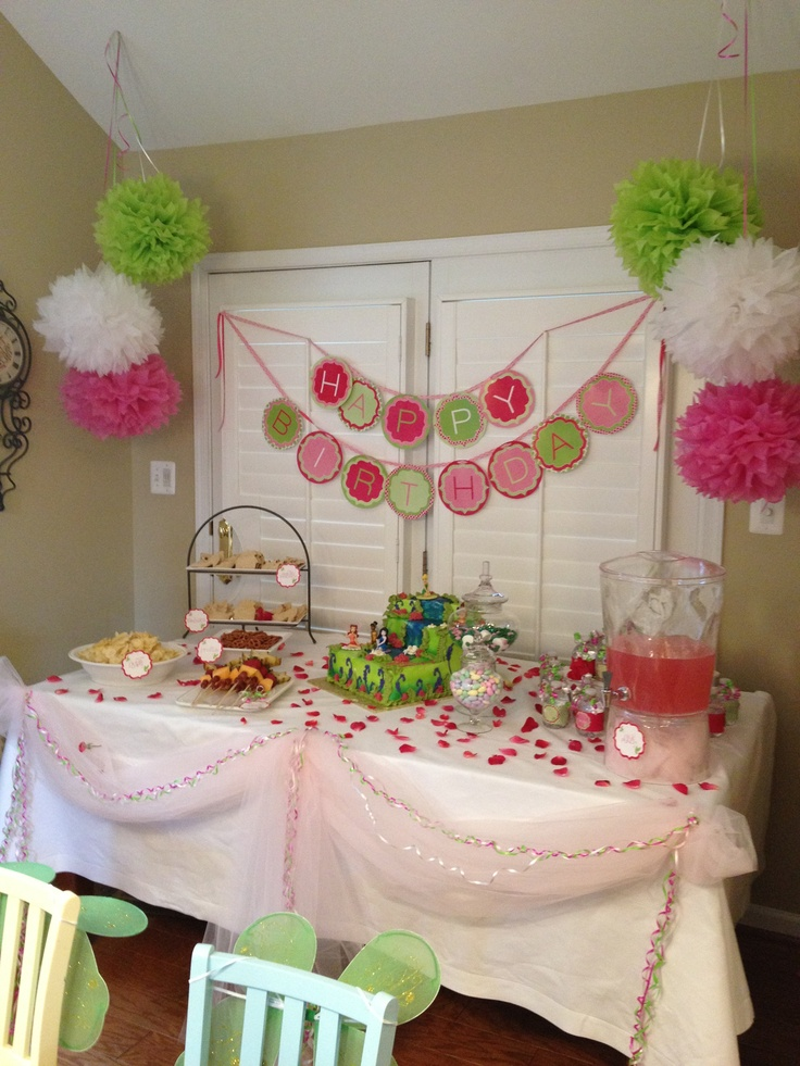 Food Table For Princess Fairy Party