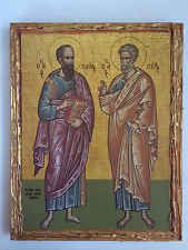 Saint Peter and Paul-handmade Greek orthodox Russian byzantine icon