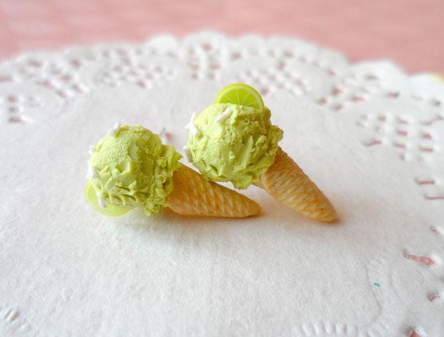 Lody limonkowe ♥ wkrętki w vivi4n na DaWanda.com