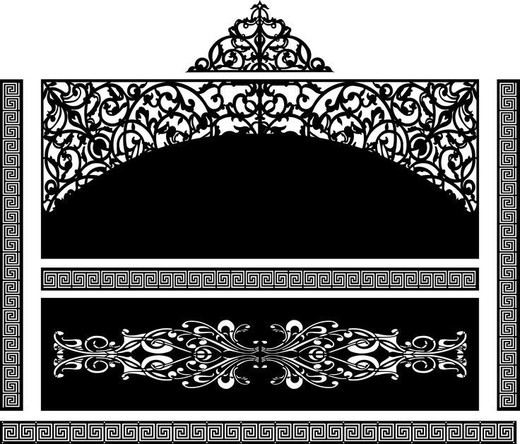 Ворота, пролет забора и калитка для лазера | Модели для станков ЧПУ | Чертежи в масштабе.ру