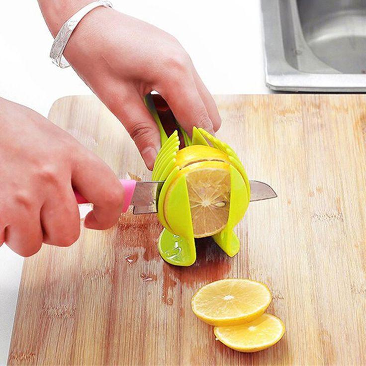 キッチントマトスライサーabsプラスチックカッタースライサーキッチンガジェットlemon orange果物ナイフケーキホルダークッキングツールロシアスタイル