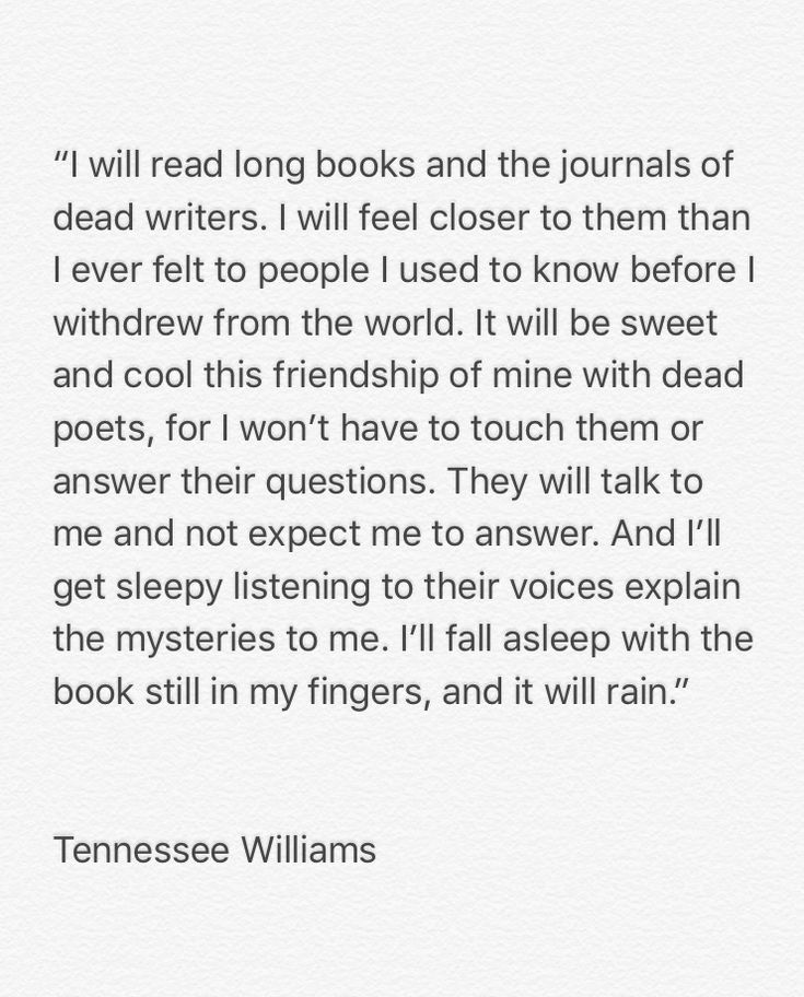 Tennessee Williams • Talk to Me Like the Rain and Let Me Listen