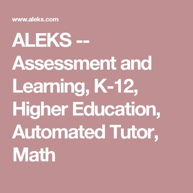280 best math images on pinterest mathematics teaching ideas and aleks assessment and learning higher education automated tutor math fandeluxe Choice Image