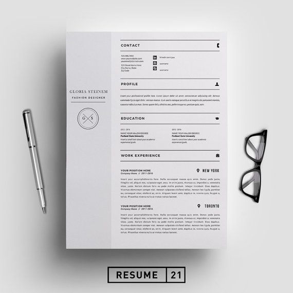 25 best Resume Templates images on Pinterest For m, Plants and - fashion design resume template