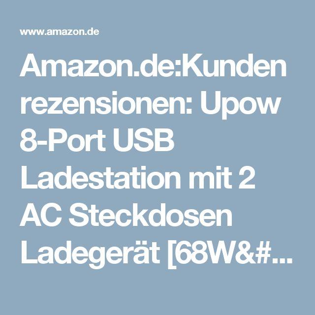 Amazon.de:Kundenrezensionen: Upow 8-Port USB Ladestation mit 2 AC Steckdosen Ladegerät [68W/2.4A Max] Desktop Multi-Gerät Stand für Telefon und Tablets wie Apple iPhone iPad Samsung Galaxy Google Nexus LG HTC