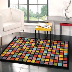 Funky Rugs, Diy Rugs, Modern Rugs, Wool Rugs, Illusions, Ps, Patchwork  Designs, Dance Floors, Centerpieces