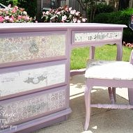 It can be a lot of fun to add paper to some of your pieces of furnitur… :: Hometalk