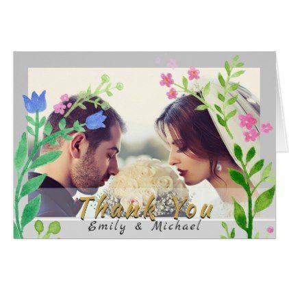 #wedding #thankyoucards - #PHOTO Wedding THANK YOU Wording Template GREY