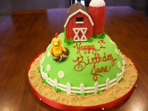 Farm Birthday Party Cake