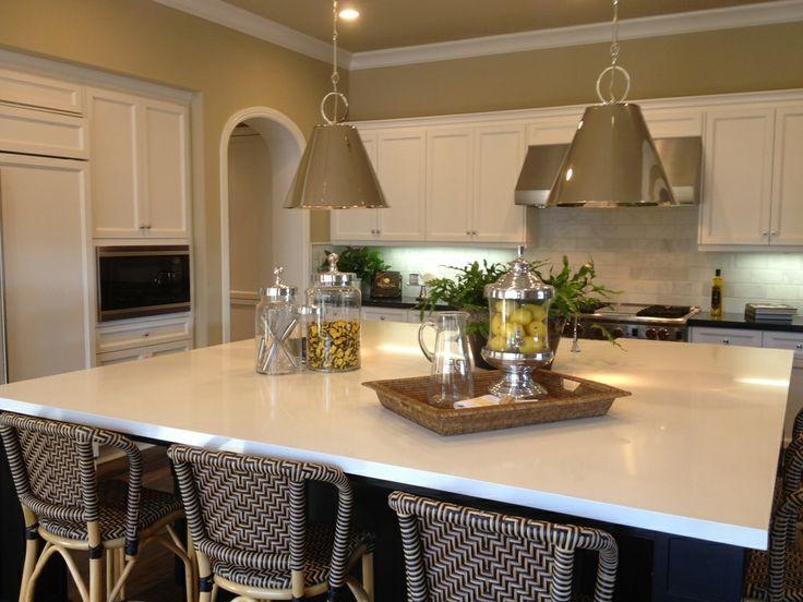 Arctic White Quartz Countertops   Traditional   Kitchen   Orange County   M  S International, Inc.