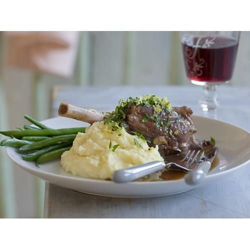 Lamb shank stew recipe. Served with creamy mashed potato and gravy, this lamb shank stew is comfort food at its finest and yet fancy enough to serve up to guests.  #Main #Other #Stew #Lamb