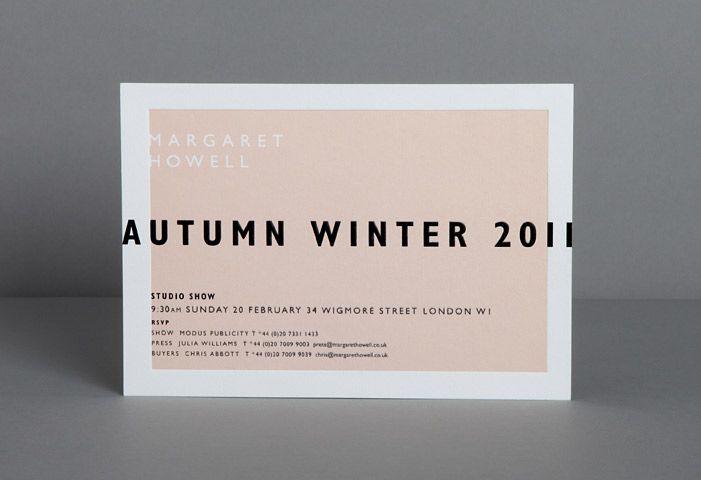 Margaret Howell invitation via Studio Small #invite #card #invitation