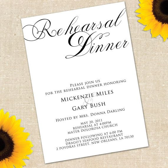 93 best Rehearsal dinner invitations images on Pinterest - free printable dinner party invitations