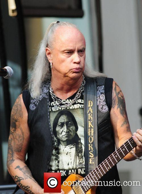 Rickey Medlocke (born February 17, 1950) is an American musician best known as the frontman/guitarist for the southern rock band Blackfoot. During his career he's also played with Lynyrd Skynyrd as a drummer (1970-71) before rejoining as a guitarist in 1996 where he continues to tour and record. Being of Blackfoot ancestry, Medlocke was inducted into the Native American Music Hall of Fame in 2008.