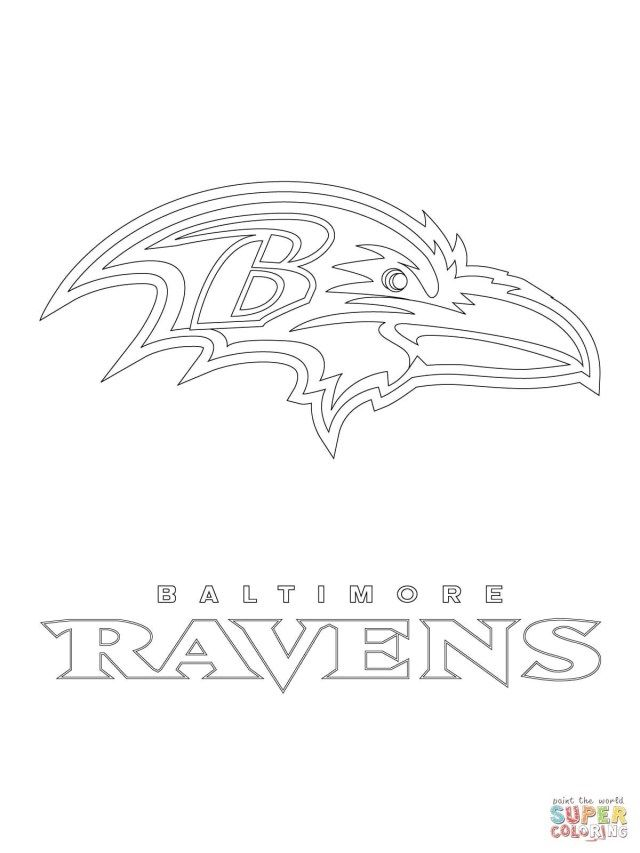 Amazing Photo Of Seahawks Coloring Pages Baltimore Ravens Logo