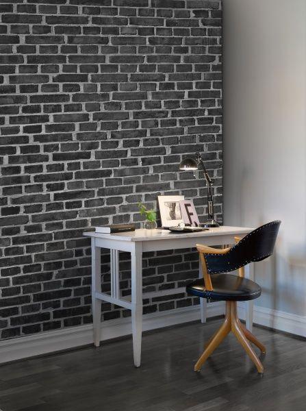 brick wall black black brick wallpaperbedroom - Brick Wallpaper Bedroom Ideas