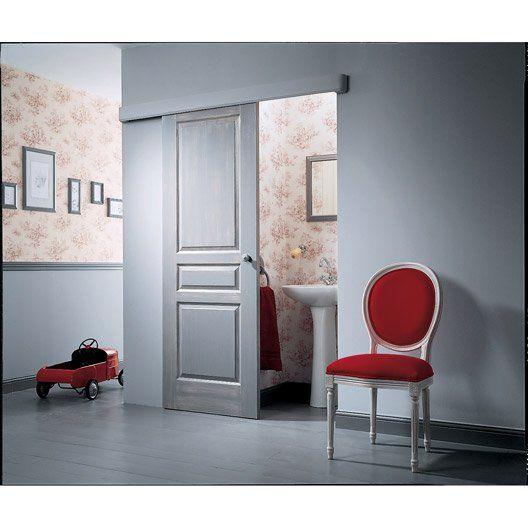Porte coulissante postformée, H.204 x l.73 cm 68€