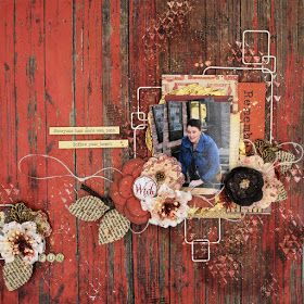 ScrapBerry's: Awesome rustic lay-out made by Lydia Guijt with the Antique Shop collection.