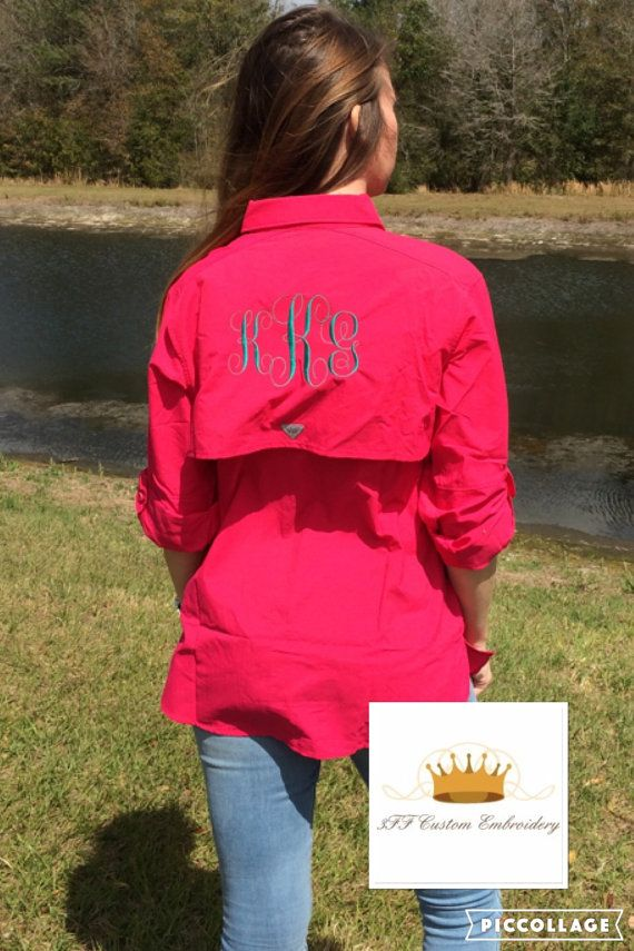 Monogrammed COLUMBIA Ladies BAHAMA PFG by 3FFCustomEmbroidery