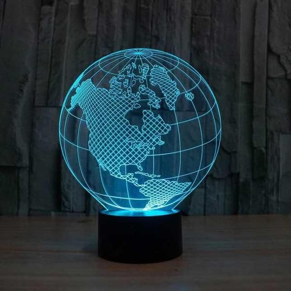 Globe 3d Illusion Lamp 3d Illusion Lamp Night Light Lamp 3d Led Lamp