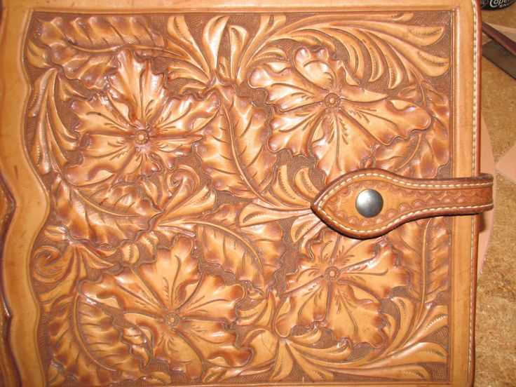California style floral leather carving style | Leather ...