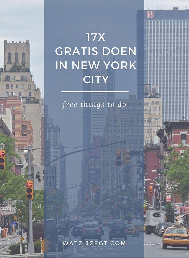 17x gratis doen in New York City