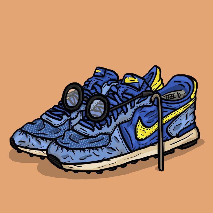O is for OG (Original) - Nike Internationalist   by #daleillustration