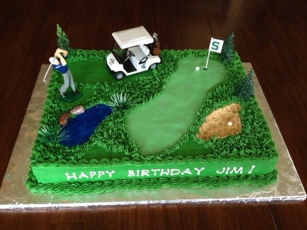 8 best images about Golf Themed Birthday Cakes on ...