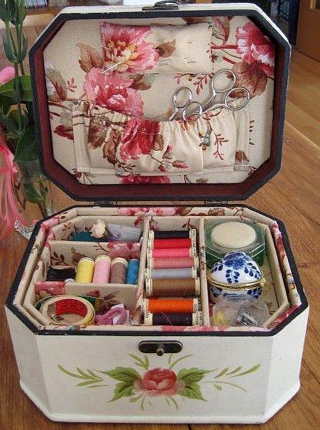 Beautiful sewing box.