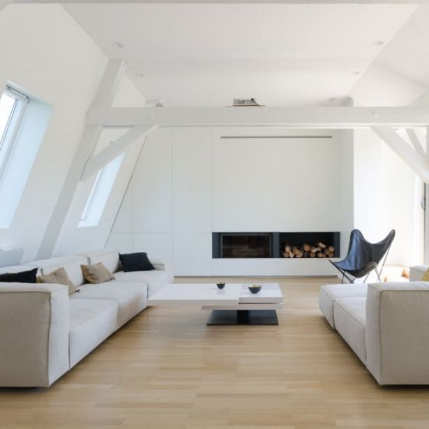 The Attic By Ff Architectes The Attic Is A Minimal Renovation