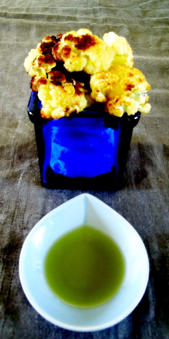 Roasted cauliflower served with Biolea olive oil stoned milled with fresh lemons.
