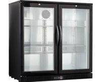 Snowman 210 Litre Double Glazed Glass Door 4 Shelves Bar Cooler BB2