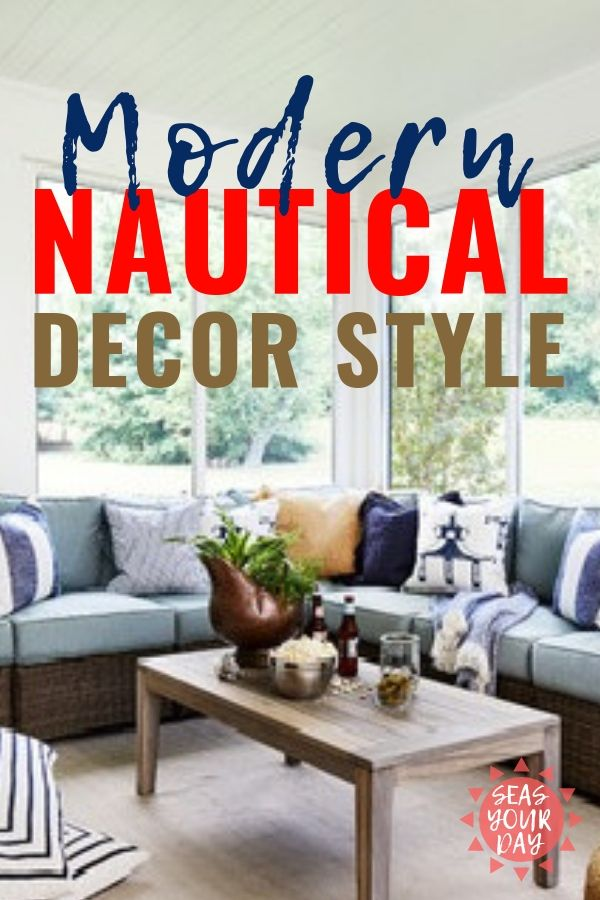 Coastal Home Decor Nautical Gets Its Sophisticated Style With Whites Blues Wicker Accessories Br Ship S Bell Porthole Mirrors Cabana Stripes Natural