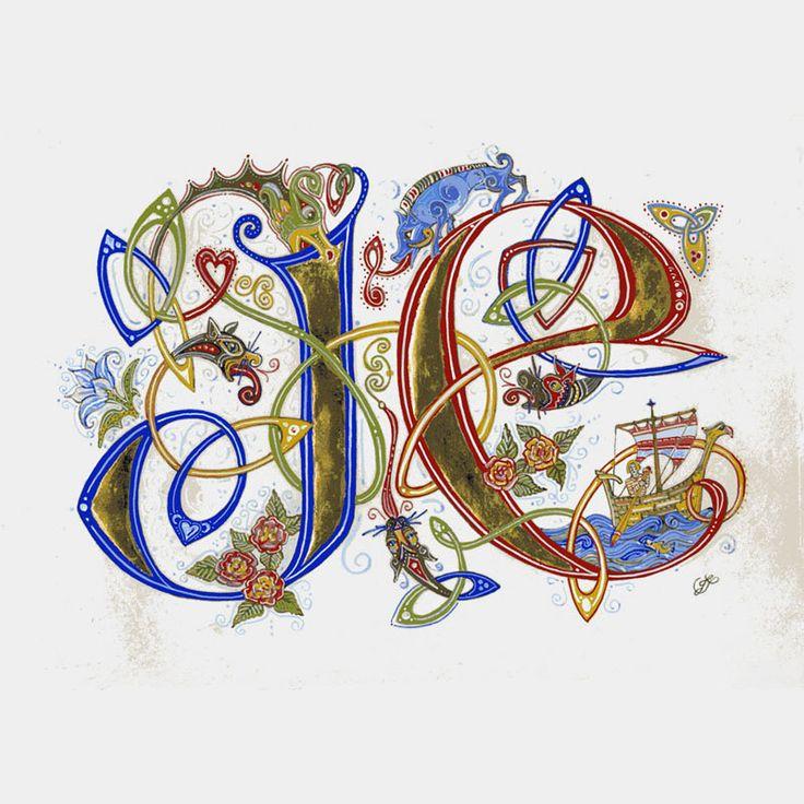 Enluminure de Jane Sullivan, Calligrafée
