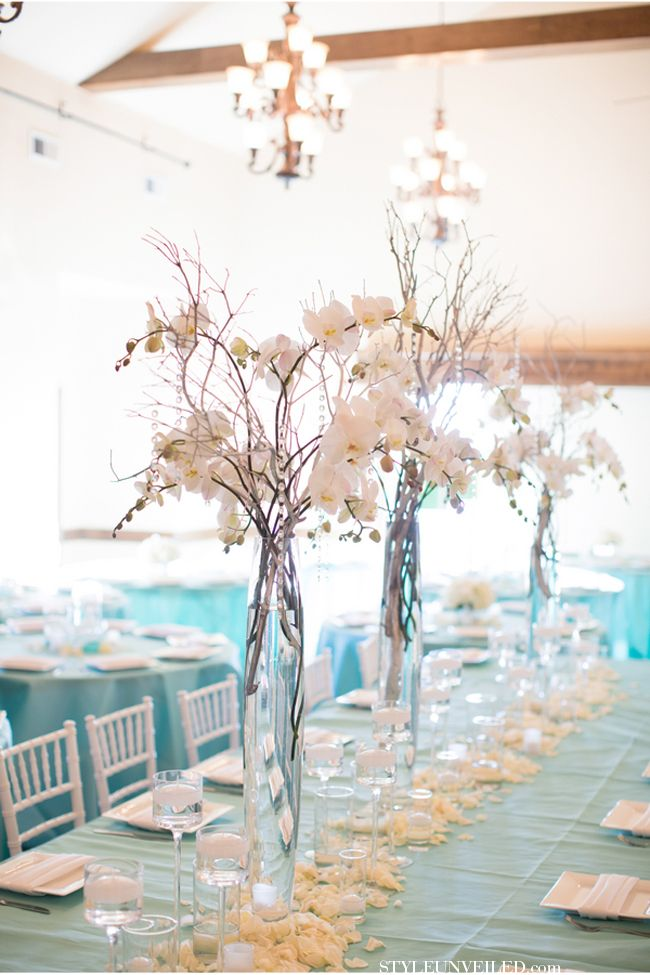 Portland Wedding with Tiffany Blue and White Details.... Beautiful & timeless (check the date on the shotglasses!) www.styleunveiled.com