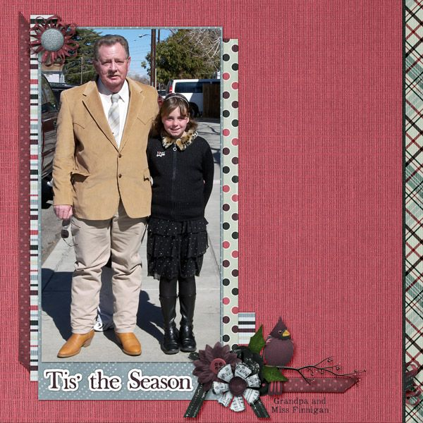 This is for Dae Design's December 2016 Scraplift Challenge.  I lifted the Wonderful Strawberry Moon by SassyCassie  I used Traditional Christmas by Dae Designs.