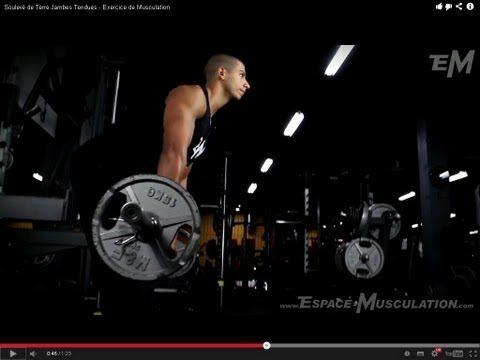 Soulevé de Terre Jambes Tendues - Exercice de Musculation  #training #workout #exercise #musculation #exercice #cuisses #jambes #legs #fessiers #dos #back #crossfit #entrainement #muscu #muscul