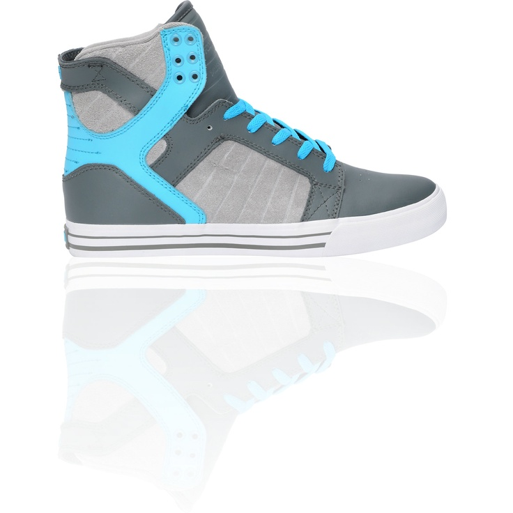 3b694c465c5 ... Black Nubuck Shoes Supra Skytop Smooth Grey   Turquoise Action Leather  Shoe at Zumiez   PDP ...