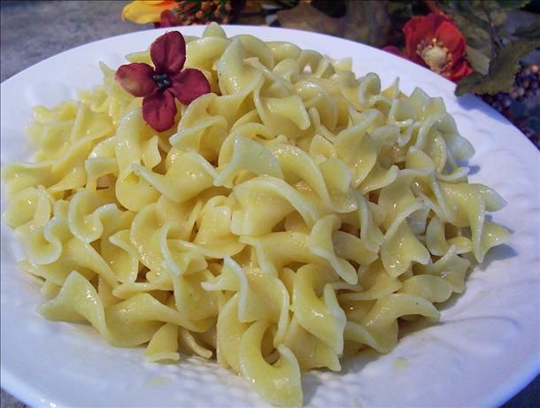 Buttered Egg Noodles (Best Ever). Made this and its great! No more bagged pasta mixes. Excellent!!! Didn't use all the butter in the last part of the directions. Used 1/2 of it. Added salt, pepper and dried parsley flakes. Will make it again!!!
