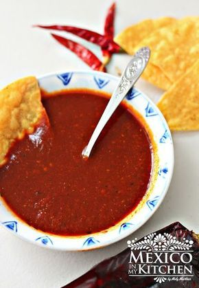 This red taqueria salsa is absolutely delicious on steak or pork carnitas tacos. You need only a few ingredients to make it at home, and it lasts several days in the fridge.  The roasted peppers give a robust flavor to the salsa.  I've been hooked on it since the first time I tried it at my local taqueria, but it can also be used over your breakfast fried eggs or that fried chicken you love for dinner.  If you love spicy