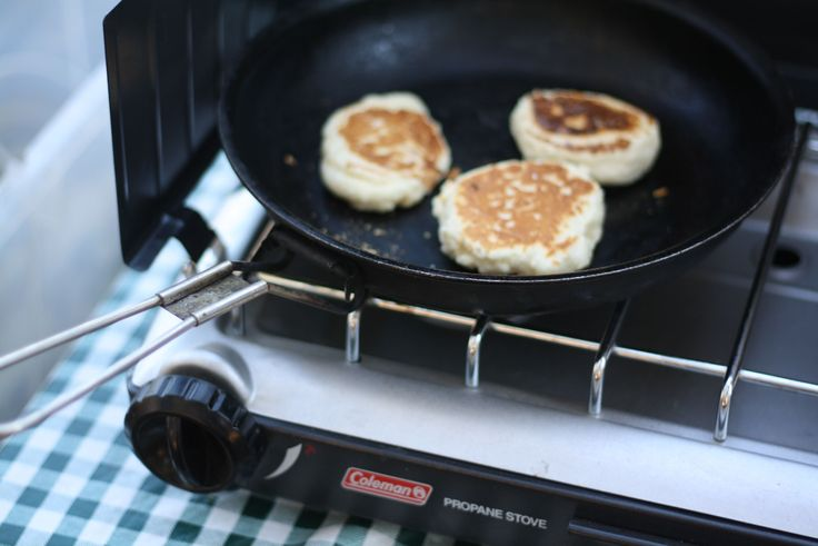 Campfire drop biscuits. Add cheddar cheese & black pepper