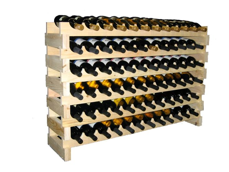 60 Bottle Modular Wine Rack12 Bottles Wide X 5 By