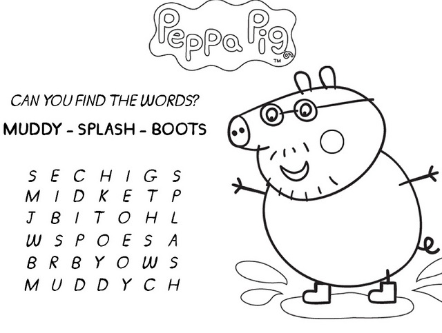 peppa pig muddy puddles coloring pages - 18 best peppa pig images on pinterest pigs peppa pig