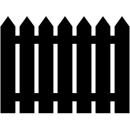 Picket Fence Silhouette Free Svg With Images Fence