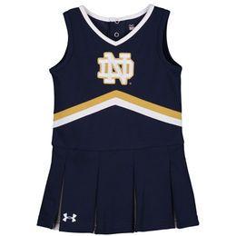 Girls Toddler Under Armour Navy Notre Dame Fighting Irish Performance Cheer Dress